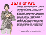 Joan of Arc - highly interactive