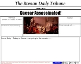 Caesar's Assassination - reading and writing by making your own Roman Newspaper - Interactive