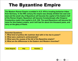 Byzantine Empire - Compare Roman Catholic to Eastern Orthodoxy