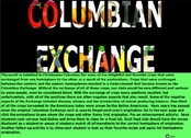 Columbian Exchange - Picture shows the products involved making their move